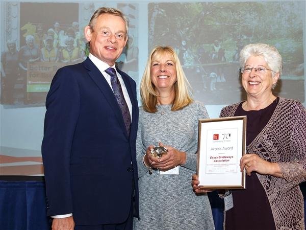 Essex Bridleways Association wins British Horse Society Access Award 2017